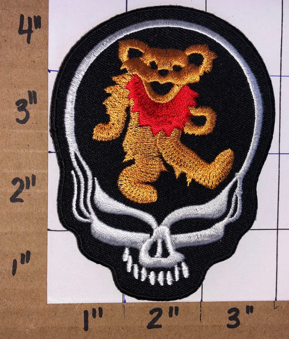 GRATEFUL DEAD SKELETON BEAR MUSIC CONCERT PATCH CREST BADGE JERRY GARCIA