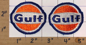 2 GULF OIL BRITISH AMERICAN OIL GULF CANADA CREST EMBLEM PATCH LOT