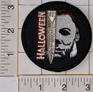 HALLOWEEN HORROR FRANCHISE SERIAL KILLER MICHAEL MYERS MOVIE EMBLEM PATCH