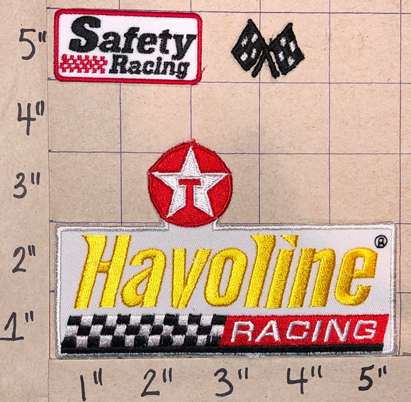 TEXACO HALVOLINE RACING OIL CREST EMBLEM PATCH LOT