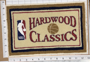 "1 VINTAGE HARDWOOD CLASSICS 13"" NBA BASKETBALL CHENILLE PATCH"