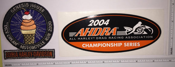 2 HARLEY DAVIDSON AHDRA DRAG RACING CHAMPIONSHIP SERIES CREST PATCH LOT