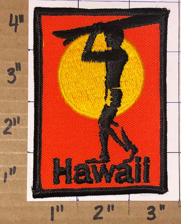 1 VINTAGE 70's HAWAII SUN CITY SUN SET CREST TRAVEL TOURIST TOURISM EMBLEM PATCH