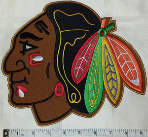 "1 CHICAGO BLACKHAWKS NHL HOCKEY 10"" CREST EMBLEM PATCH"
