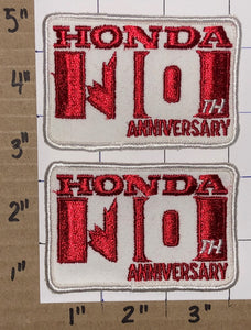 2 VINTAGE HONDA 10TH ANNIVERSARY SAFETY RACING NASCAR INDY PATCH LOT
