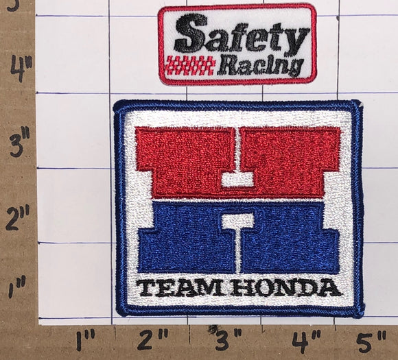 2 VINTAGE 80'S TEAM HONDA SAFETY RACING NASCAR INDY PATCH LOT