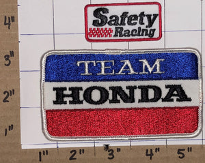 2 VINTAGE 80'S TEAM HONDA POWER EQUIPMENT SAFETY RACING NASCAR INDY PATCH LOT