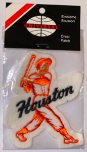 1 VINTAGE HOUSTON ASTROS MLB BASEBALL PLAYER CREST PATCH MINT IN PACKAGE