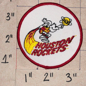 "1 HOUSTON ROCKETS NBA BASKETBALL  3"" ABA BASKETBALL CREST PATCH"