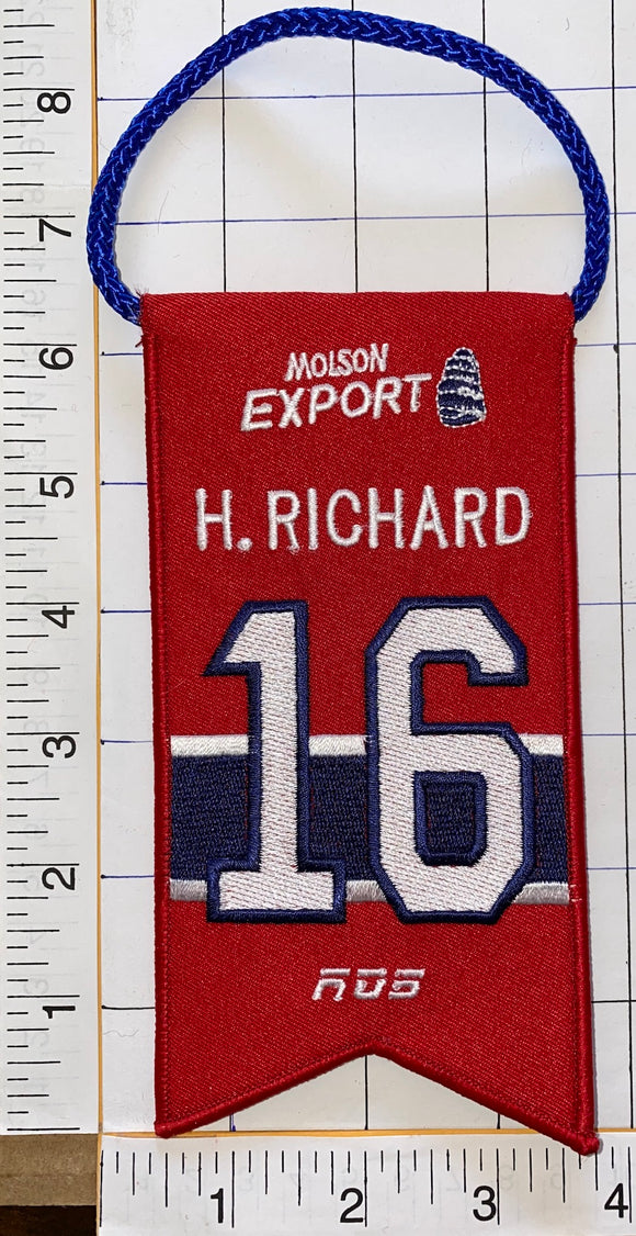 HENRI RICHARD MONTREAL CANADIENS #16 RETIREMENT BANNER NHL HOCKEY RDS MOLSON