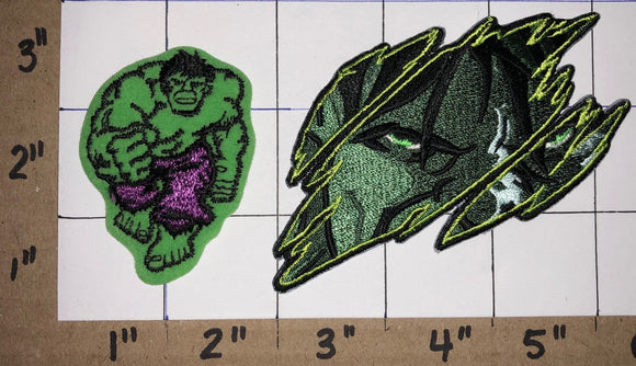 2 THE INCREDIBLE HULK SUPER HEROS MARVEL EMBLEM CREST PATCH LOT