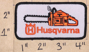 1 HUSQVARNA CHAINSAW CHAIN SAW POWER TOOLS EMBLEM CREST PATCH