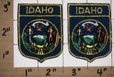 2 VINTAGE IDAHO USA UNITED STATES PATRIOTIC VOYAGER TRAVEL TOURIST CREST PATCH