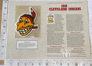 1948 CLEVELAND INDIANS MLB BASEBALL WILLABEE & WARD COOPERSTOWN PATCH