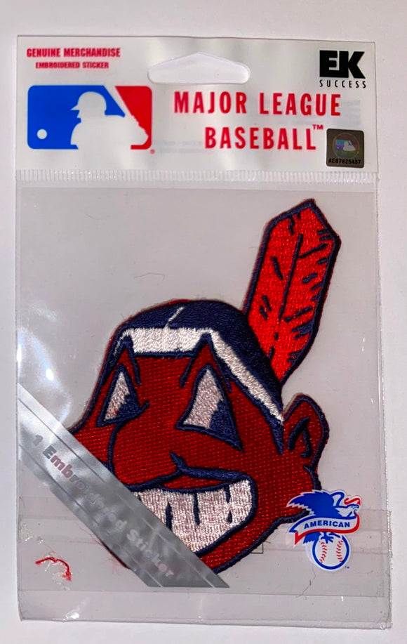 1 MIP CLEVELAND INDIANS MLB BASEBALL CREST PATCH MINT IN PACKAGE