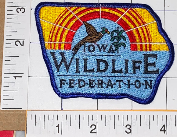 IOWA WILDLIFE FEDERATION SAVE OUR WILDLIFE CONSERVATION CREST PATCH