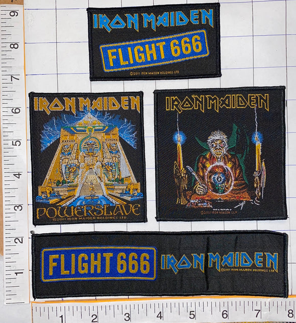 4 IRON MAIDEN FLIGHT 666 POWERSLAVE HEAVY METAL CONCERT MUSIC PATCH LOT