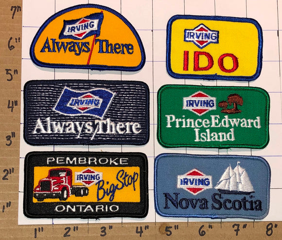 6 VINTAGE IRVING OIL GAS NATURAL GAS ONTARIO NEW BRUNSWICK PEI PATCH LOT