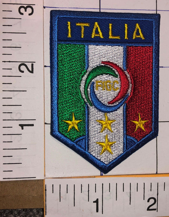 ITALIA FIGC ITALY ITALIAN NATIONAL FOOTBALL LEAGUE UEFA SOCCER CREST BADGE PATCH