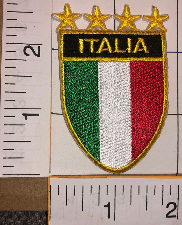 ITALIA ITALY ITALIAN NATIONAL FOOTBALL LEAGUE UEFA SOCCER CREST BADGE PATCH