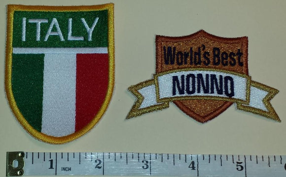 ITALIAN ITALY WORLDS BEST NONNO GRANDFATHER CREST PATCH LOT
