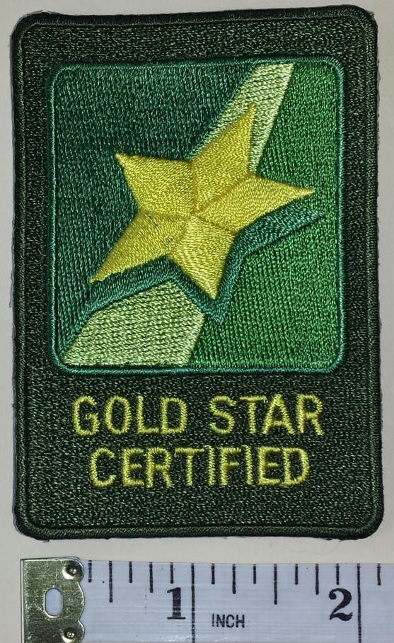 JOHN DEERE GOLD STAR TRACTOR WHEEL AGRICULTURE FARMING FORESTRY MACHINERY PATCH