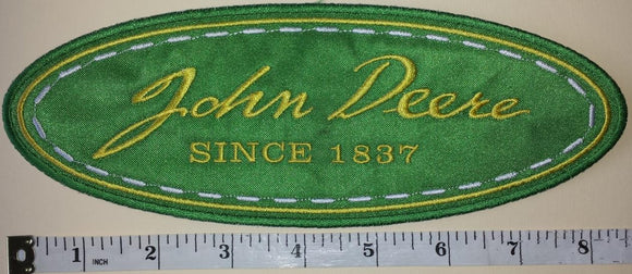 JOHN DEERE SINCE 1837 TRACTOR WHEEL AGRICULTURE FARMING FORESTRY MACHINERY PATCH