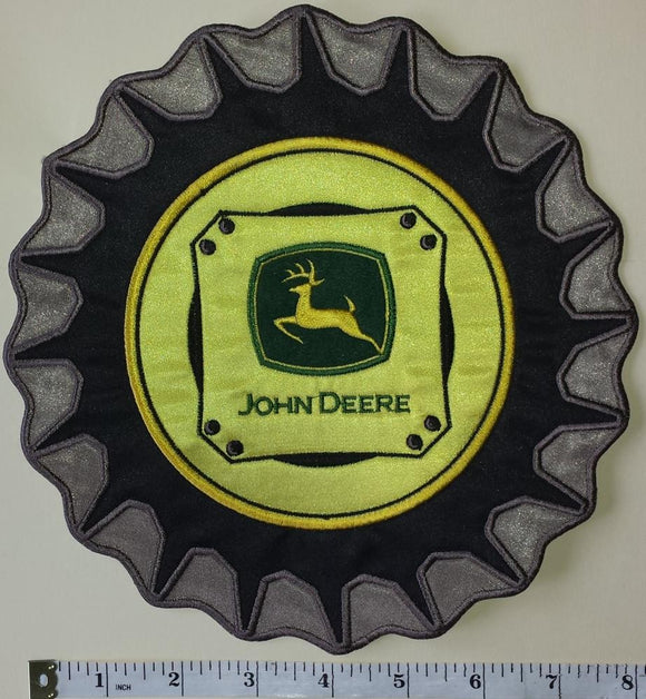 1 HUGE JOHN DEERE TRACTOR WHEEL AGRICULTURE FARMING FORESTRY MACHINERY PATCH