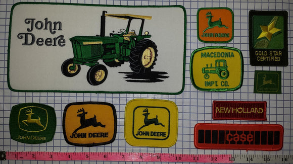 10 JOHN DEERE AGRICULTURE FARMING TRACTORS FORESTRY MACHINERY PATCH LOT