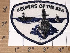 1 KEEPERS OF THE SEA UNITED STATES NAVY MARINE CORPS USA CREST EMBLEM PATCH