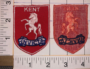 1 VINTAGE KENT INVICTA. FOOTBALL LEAGUE ENGLAND BADGE CREST PATCH