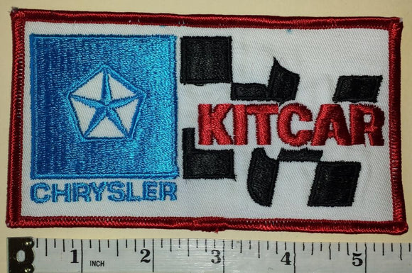 1 VINTAGE CHRYSLER KITCAR K CAR AUTOMOBILE CREST EMBLEM PATCH