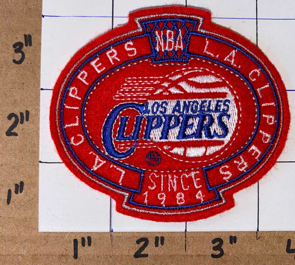 1 VINTAGE LOS ANGELES CLIPPERS SINCE 1984 NBA BASKETBALL SHIELD EMBLEM PATCH