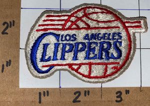 "1 VINTAGE LOS ANGELES CLIPPERS NBA BASKETBALL  3"" WHITE CREST EMBLEM PATCH"