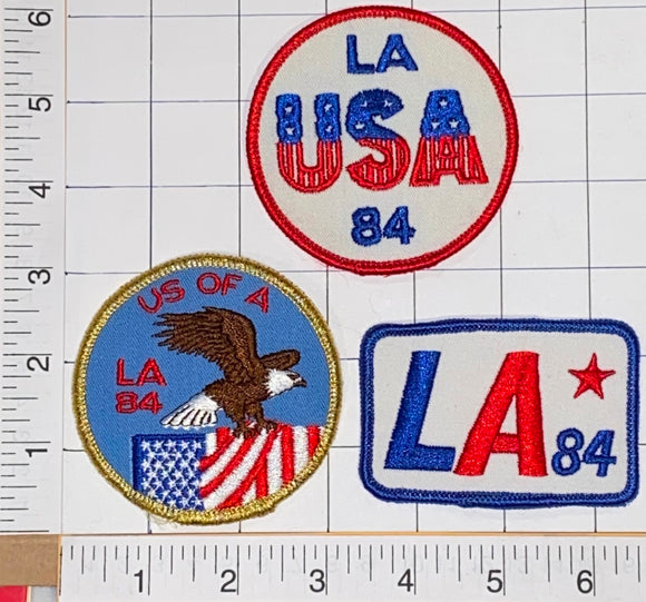 1984 SUMMER OLYMPICS LA TEAM USA LOS ANGELES XXIII OLYMPIAD USA CREST PATCH LOT