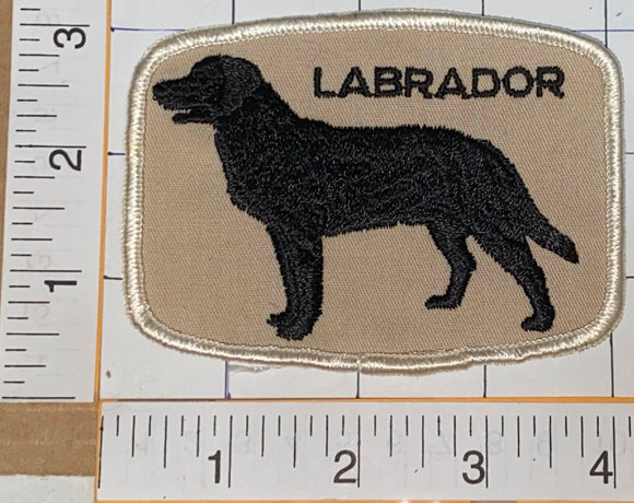 1 RARE VINTAGE 1970'S LABRADOR RETRIEVER HUNTING DOG EMBLEM CREST PATCH