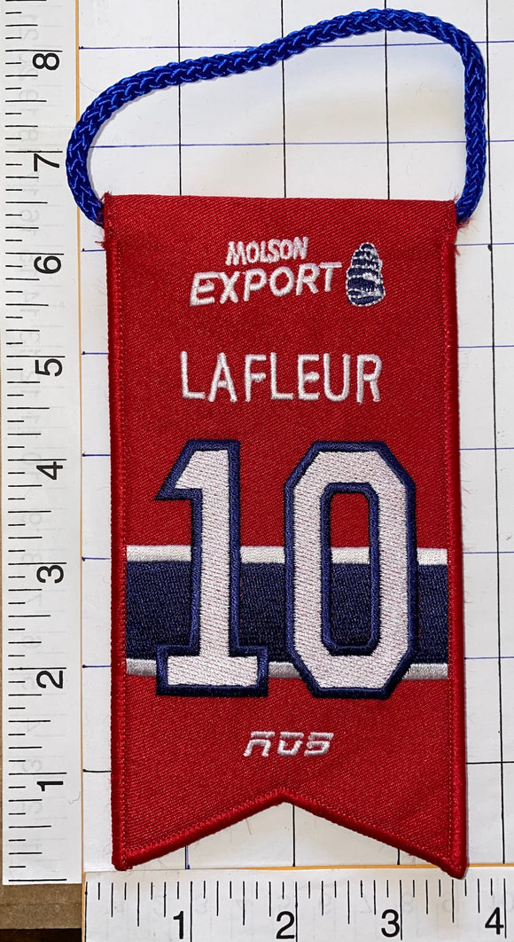 GUY LAFLEUR MONTREAL CANADIENS #10 RETIREMENT BANNER NHL HOCKEY RDS MOLSON