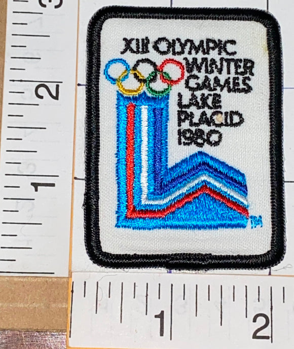 VINTAGE 1980 LAKE PLACID XIII WINTER OLYMPICS USA EMBLEM CREST PATCH
