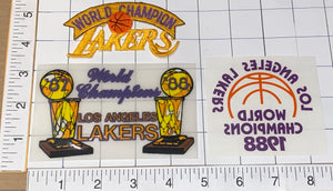3 LOS ANGELES LAKERS 1987-88 NBA BASKETBALL CHAMPIONS CREST PATCH TRANSFERS
