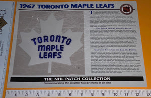 1 OFFICIAL 1967 TORONTO MAPLE LEAFS NHL HOCKEY WILLABEE & WARD PATCH MIP