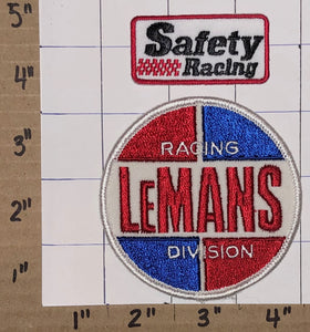 2 LE MANS SAFETY RACING DIVISION GRAND PRIX ENDURANCE STOCK CAR BADGE PATCH LOT
