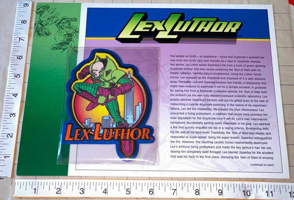 LEX LUTHER SUPERVILLAIN DC COMICS KRYPTONITE WILLABEE & WARD EMBLEM PATCH