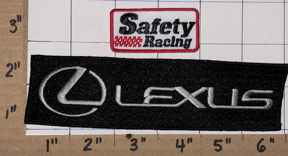 2 LEXUS AUTOMOBILE LUXURY TOYOTA SAFETY RACING MOTOR CREST PATCH LOT