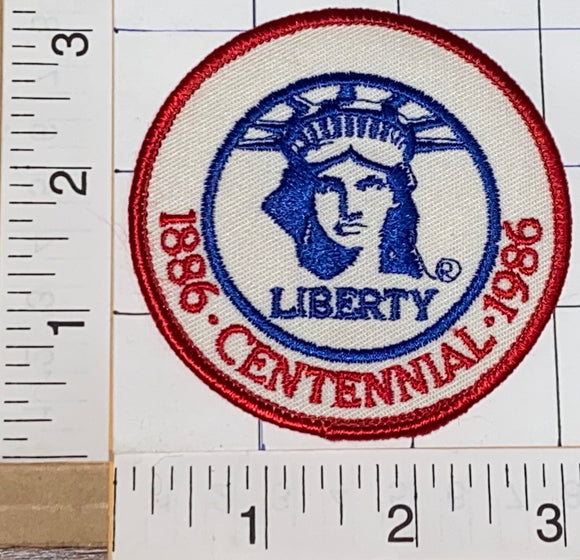 VINTAGE 1886-1996 CENTENNIAL NY STATUE OF LIBERTY AMERICAN REVOLUTION PATCH