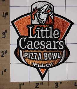 1 LITTLE CAESARS PIZZA BOWL MOTOR CITY NCAA COLLEGE FOOTBALL CREST EMBLEM PATCH
