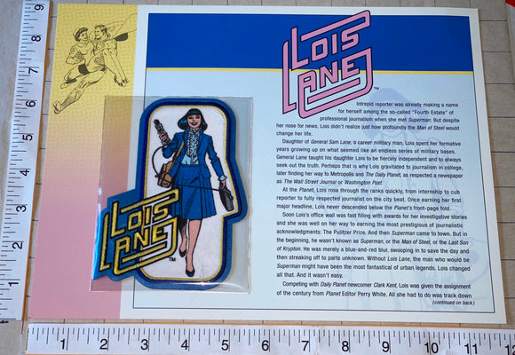 SUPERMAN LOIS LANE DC COMICS DAILY PLANET WILLABEE & WARD EMBLEM PATCH