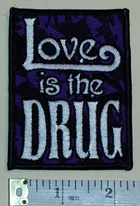 ROXY MUSIC LOVE IS THE DRUG ENGLISH ROCK MUSIC BAND CREST EMBLEM PATCH