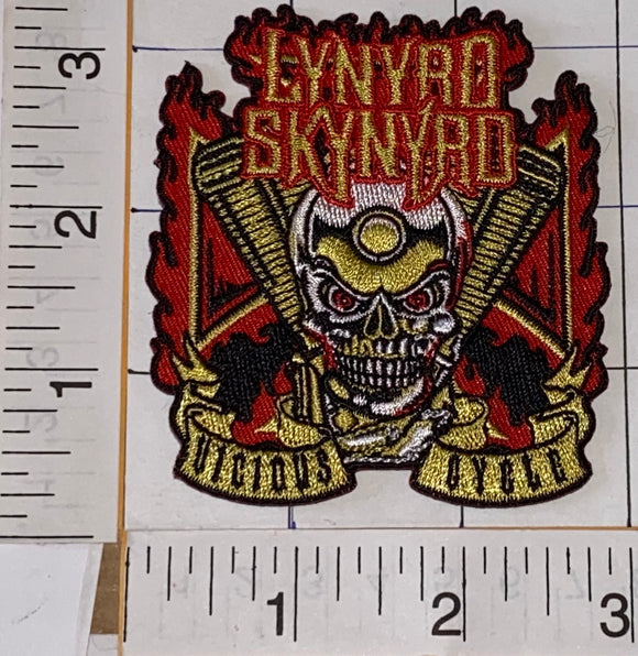 LYNYRD SKYNYRD VICIOUS CYCLE SKULL IN SKYNYRD WE TRUST FREEBIRD MUSIC BAND PATCH