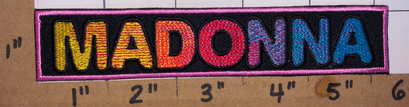 MADONNA AMERICAN QUEEN OF POP SINGER CONCERT MUSIC PATCH