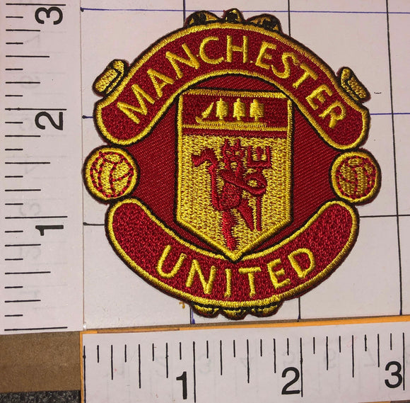 MANCHESTER UNITED F.C. ENGLISH FOOTBALL CLUB PREMIER LEAGUE LONDON CREST PATCH